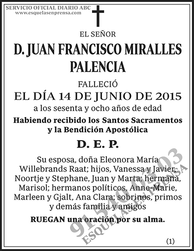 Juan Francisco Miralles Palencia